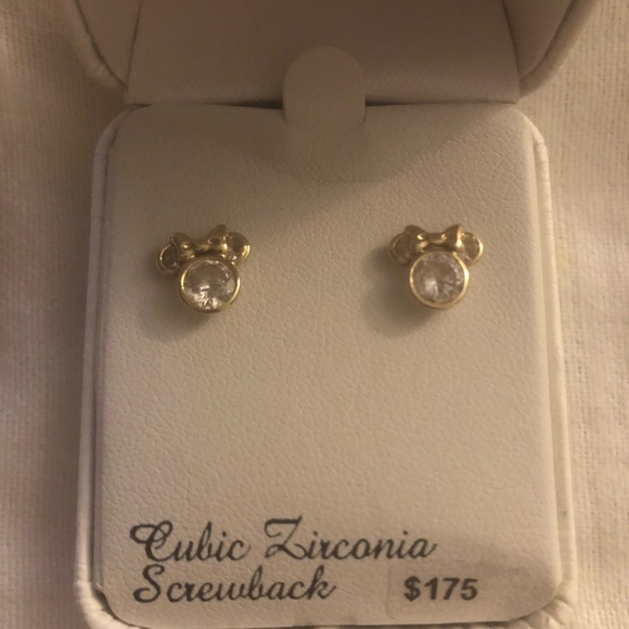 74a2e27c6 Disney Accessories | 14 K Gold Minnie Mouse Studs Earrings | Poshmark